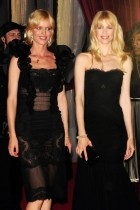 **RESTRICTIONS APPLY** Claudia Schiffer and Eva Herzigova attend the Dolce & Gabbana Party at the Le Baoli in Cannes