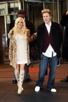 """Heidi Montag and Spencer Pratt are seen leaving their hotel to make an appearance on the """"Live with Regis and Kelly"""" show"""