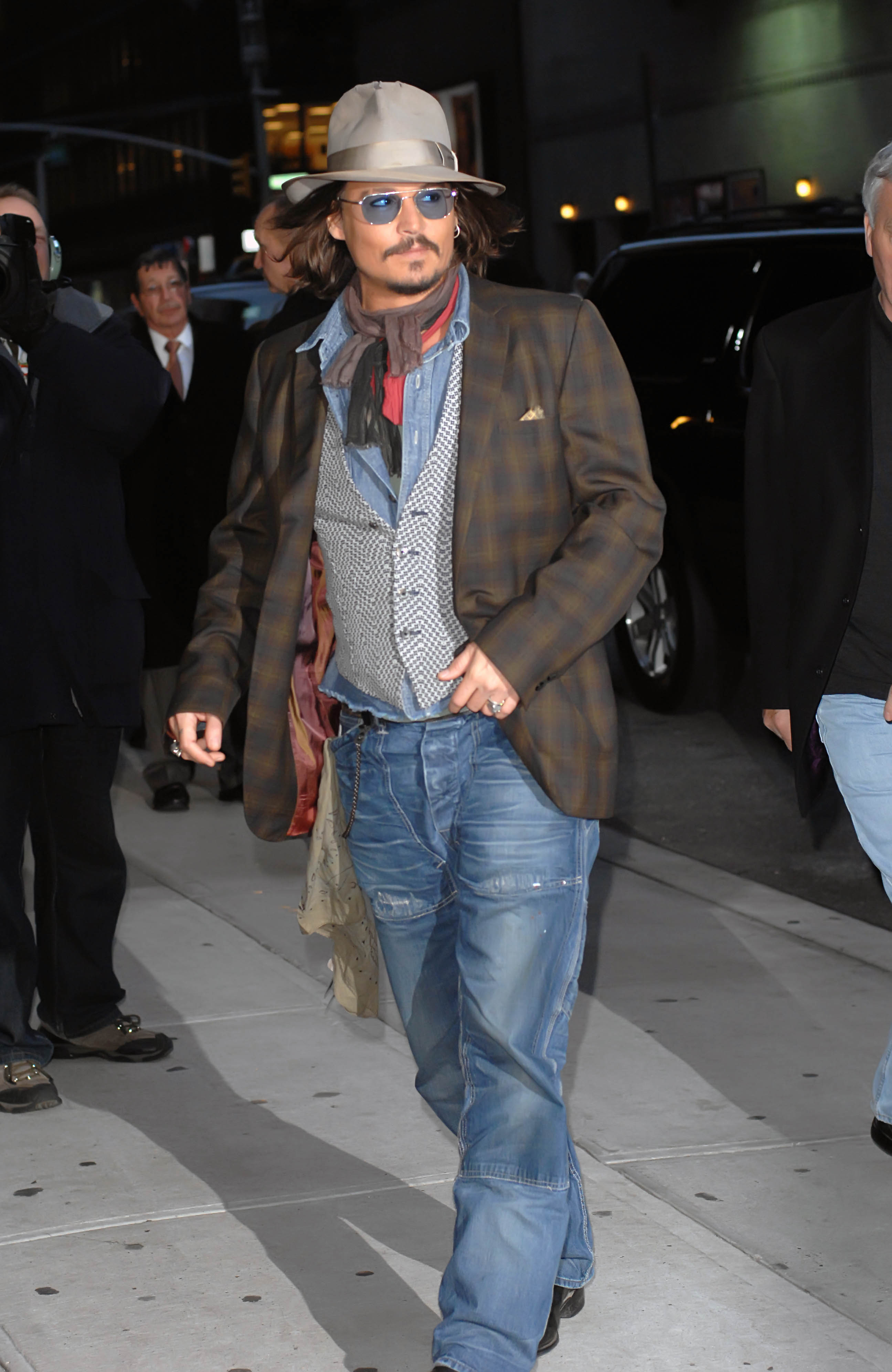 Johnny Depp at 'The Late Show with David Letterman', New York City