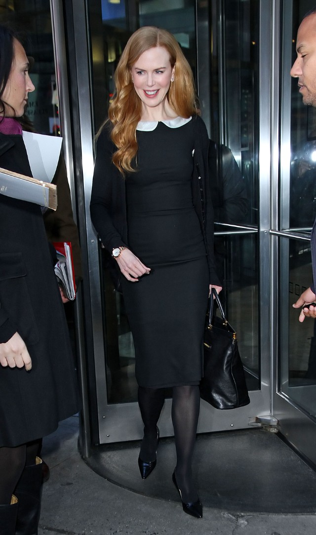 Nicole Kidman is all smiles when departing GMA in NYC
