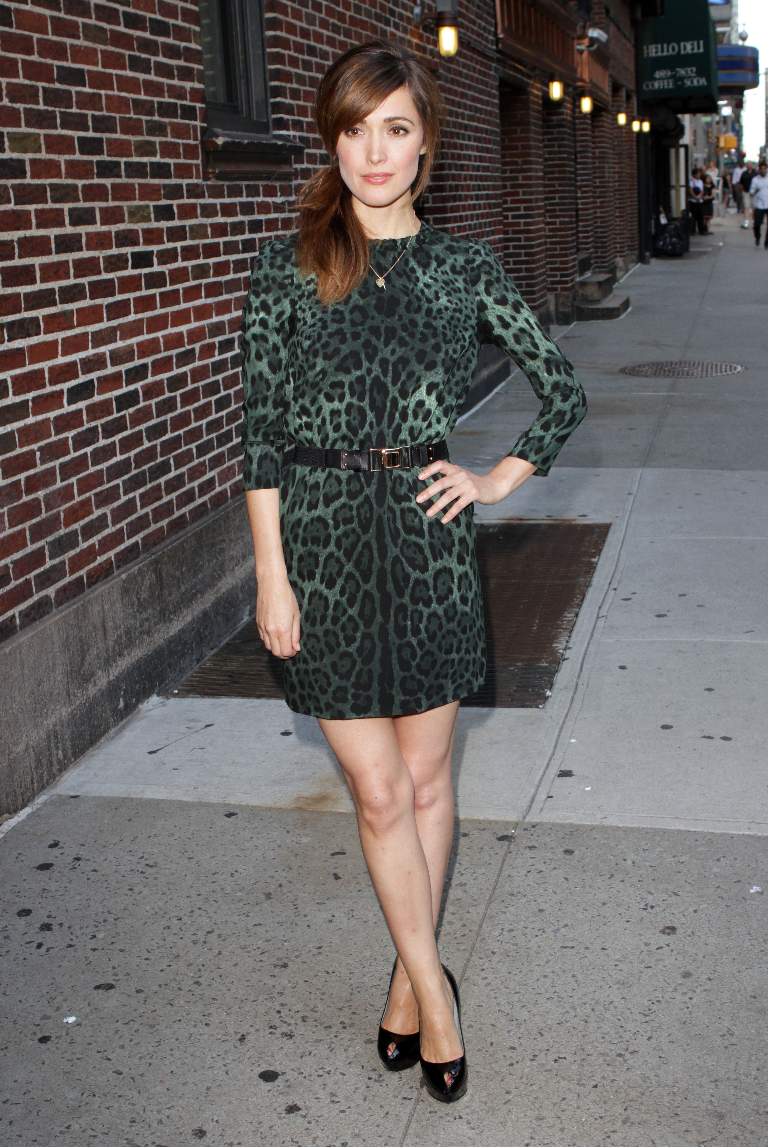 Rose Byrne visits 'The Late Show with David Letterman' in NYC