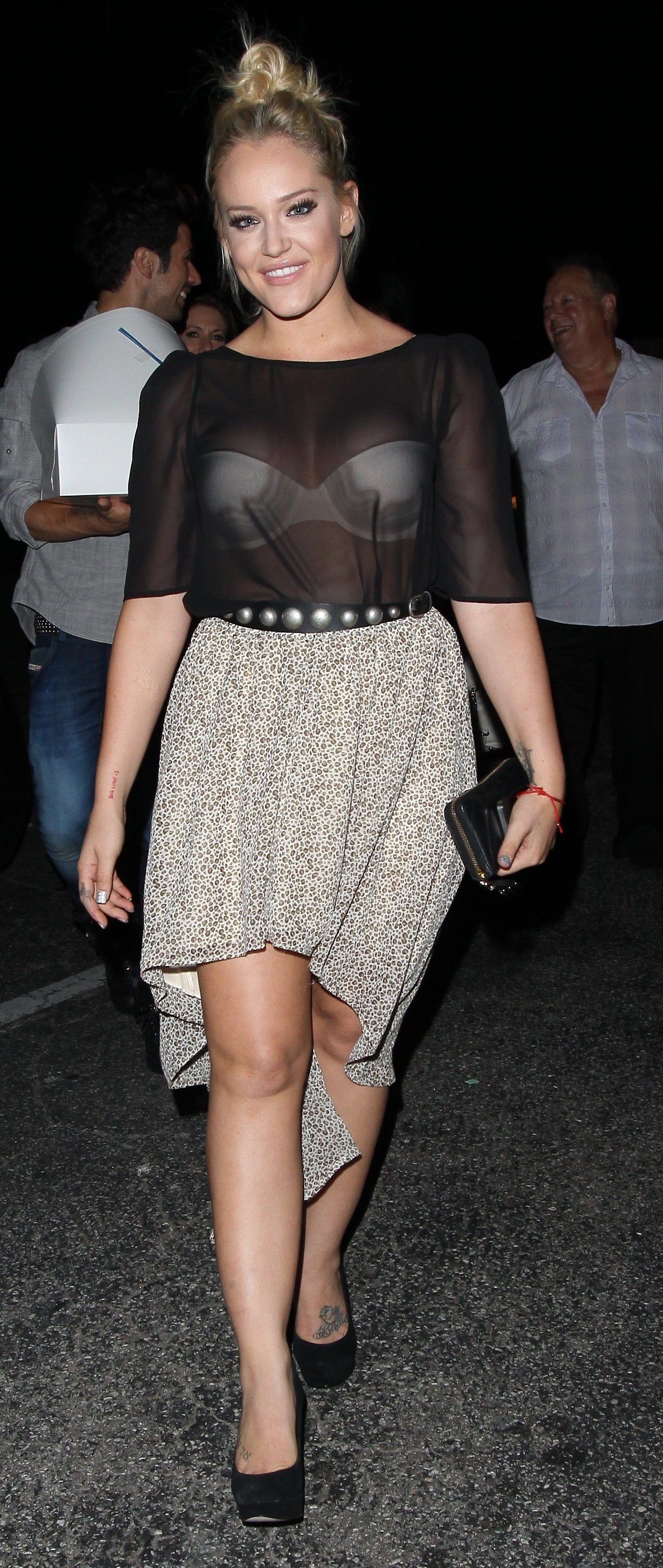 Lacey Schwimmer and Chaz Bono arriving at Gyu-Kaku in West Hollywood