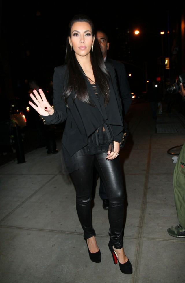 Kim Kardashian, Kourtney Kardashian and Scott Disick go to Bowlmor Lanes in NYC