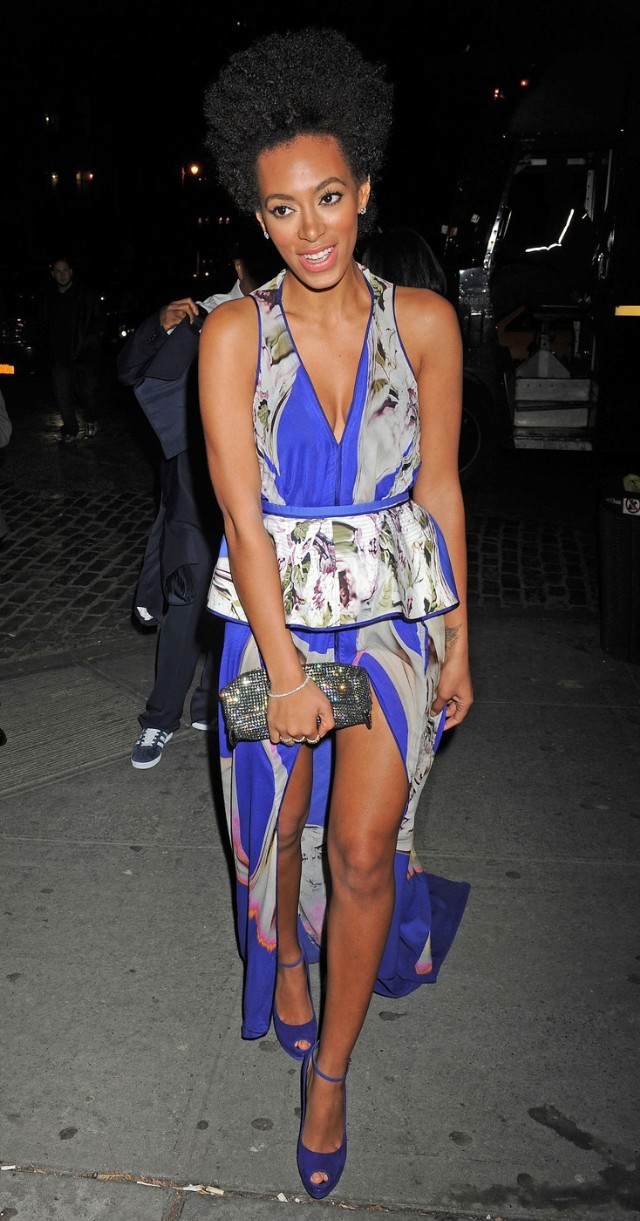 Solange Knowles attends the Runway To Win Fundraiser for the Obama Victory Fund at the Theory Store in NYC