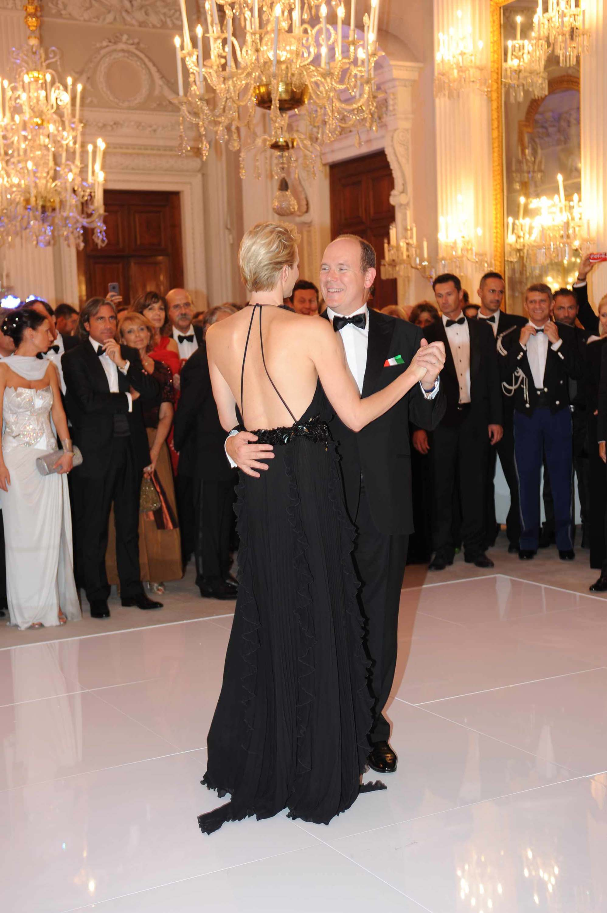 Prince Albert II of Monaco and Charlene at the ball of Giglio in Florence