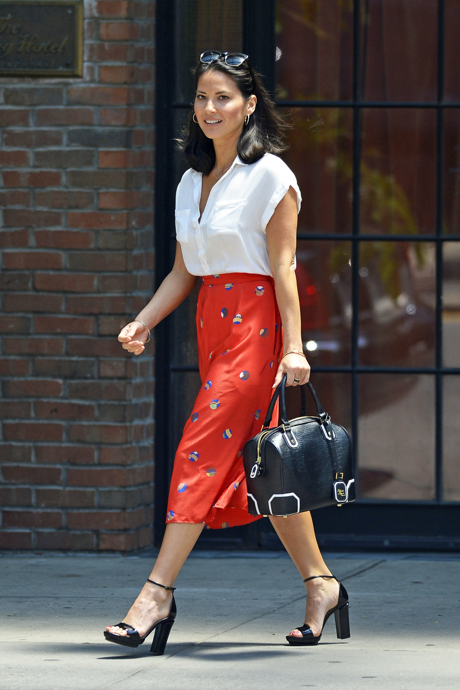 Olivia Munn seen leaving 'The Bowery Hotel' of East Village in New York City
