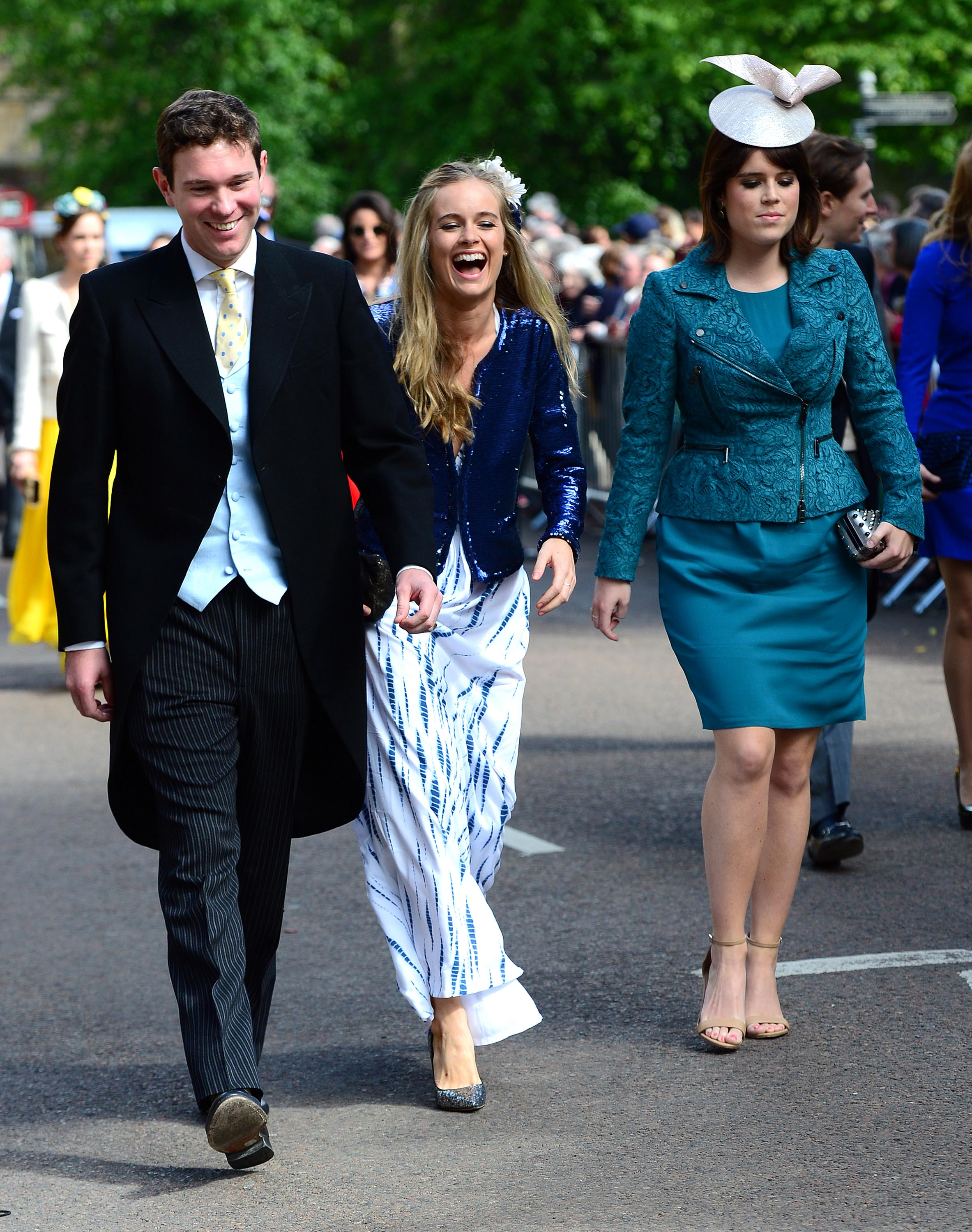 Some Dude, Cressida Bonas, and Princess Eugenie