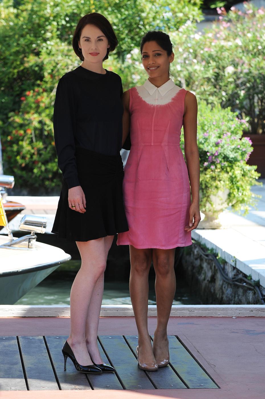 Venice Film Festival Fug or Fab: Michelle Dockery and Freida Pinto