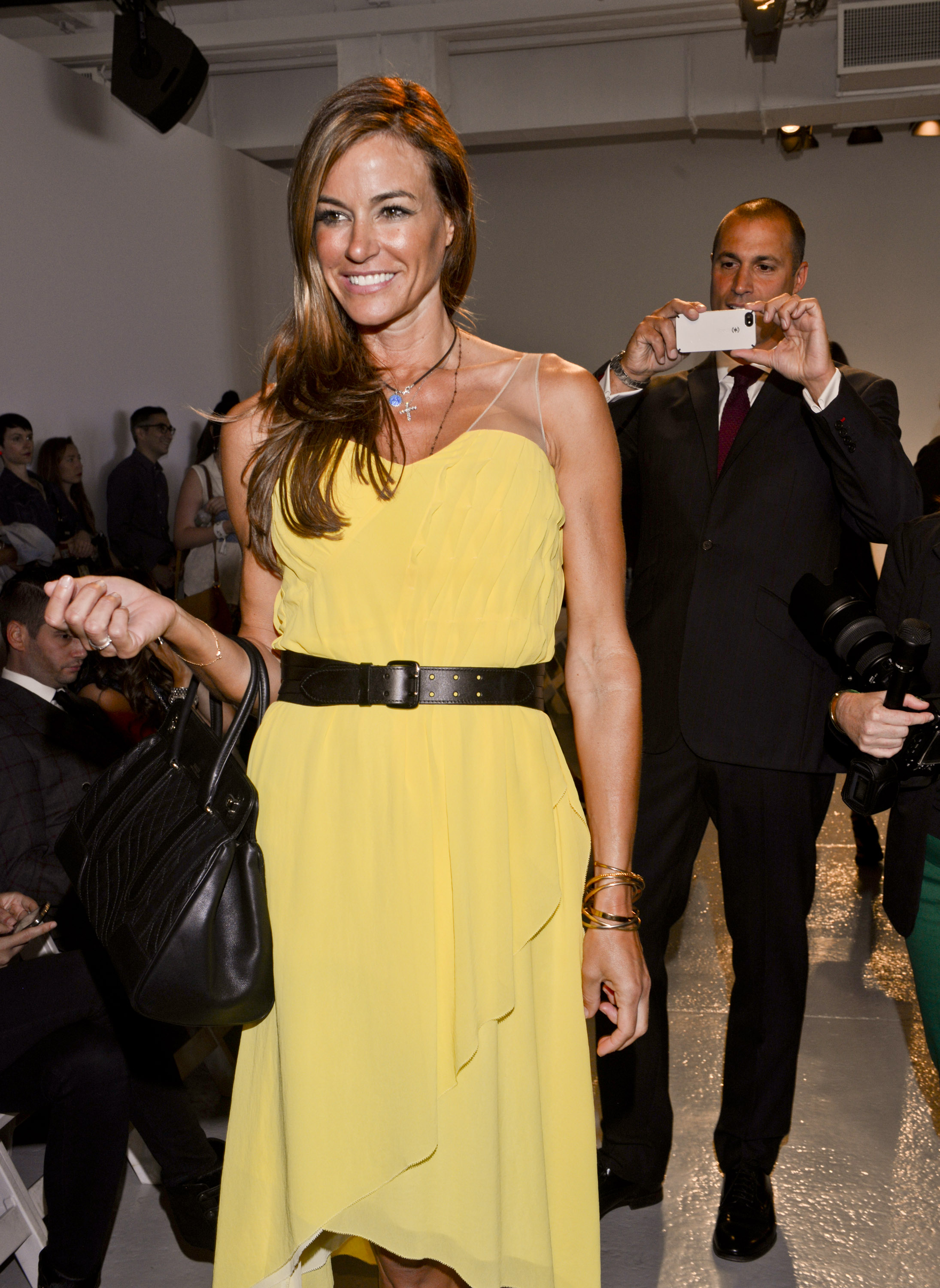 Kelly Bensimon and Nigel Barker at Rebecca Taylor
