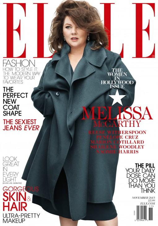 Melissa McCarthy ELLE WIH Nov '13 cover