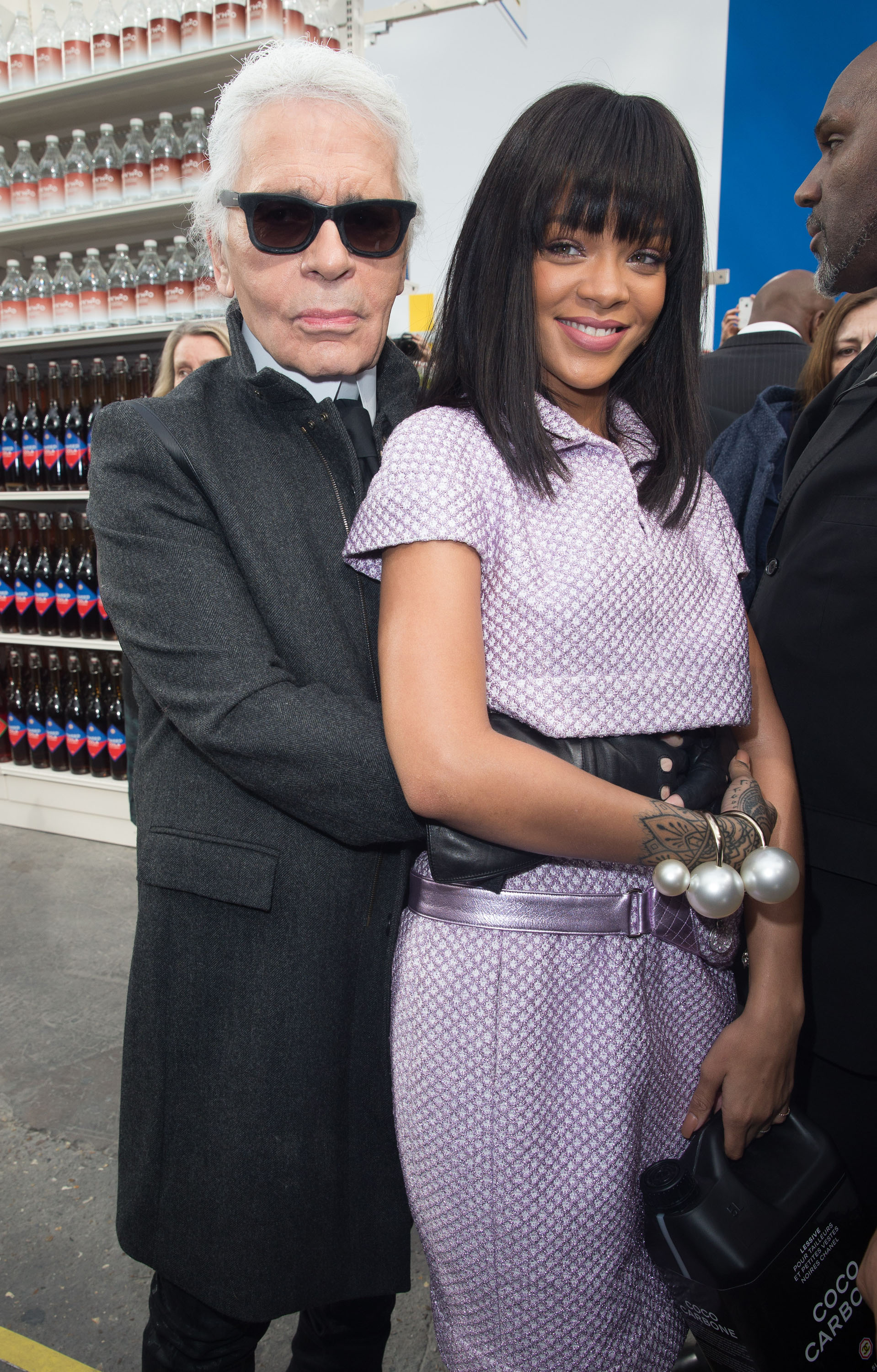 d548ff6c83 Karl Lagerfeld and Rihanna - Chanel Front Row - 7