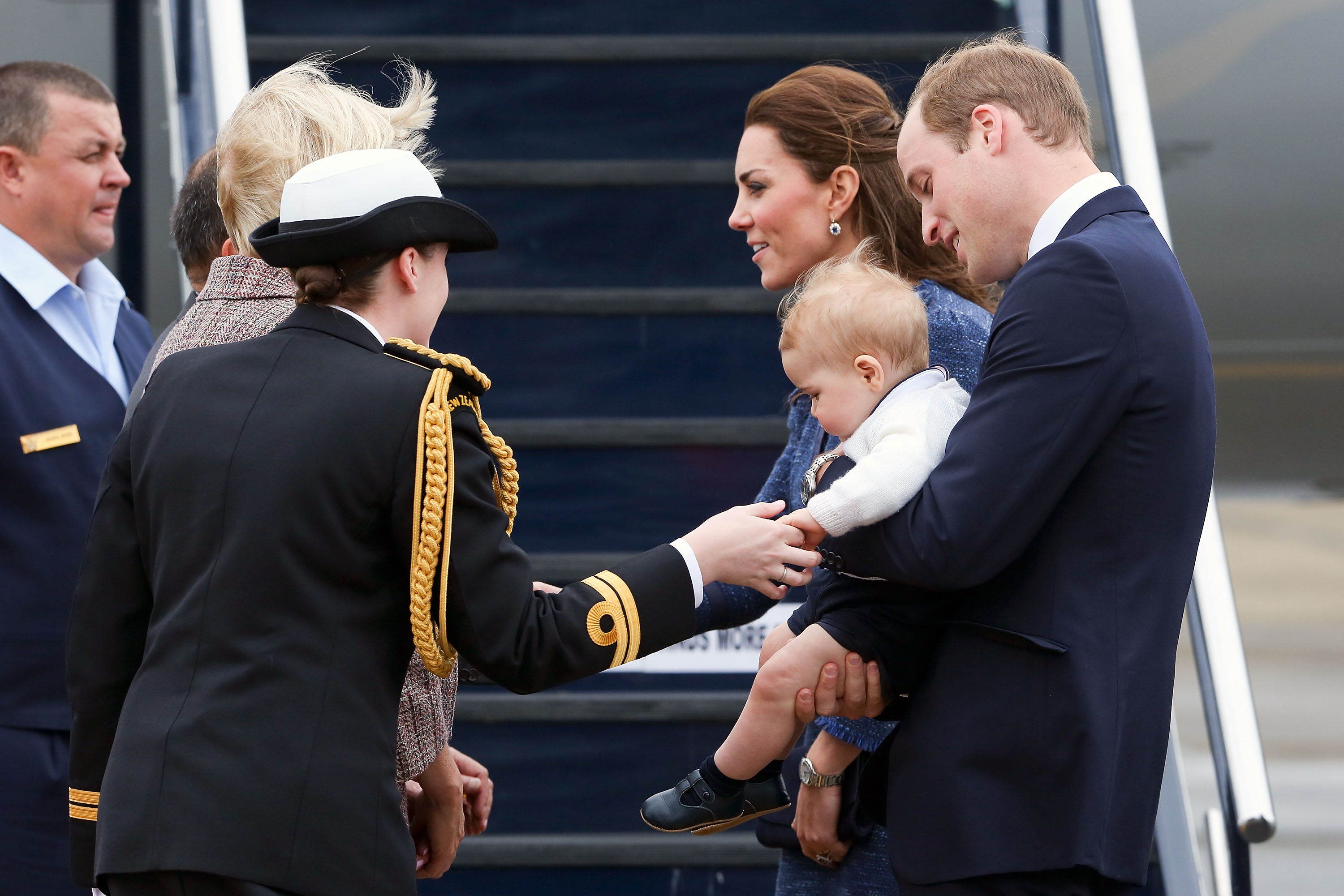 Kate, Wills, and George