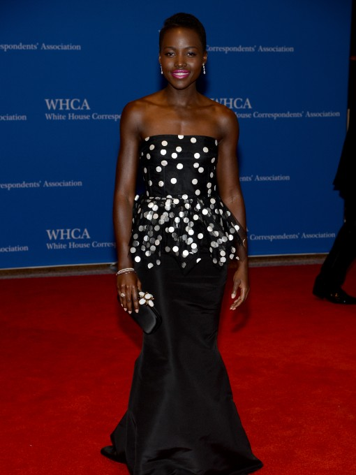 White House Correspondents' Dinner Fug or Fab: Lupita Nyong'o in Oscar de la Renta