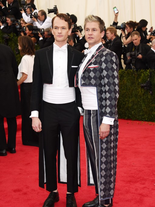 Met Gala What The Fug: Neil Patrick Harris and David Burtka in Thom Browne