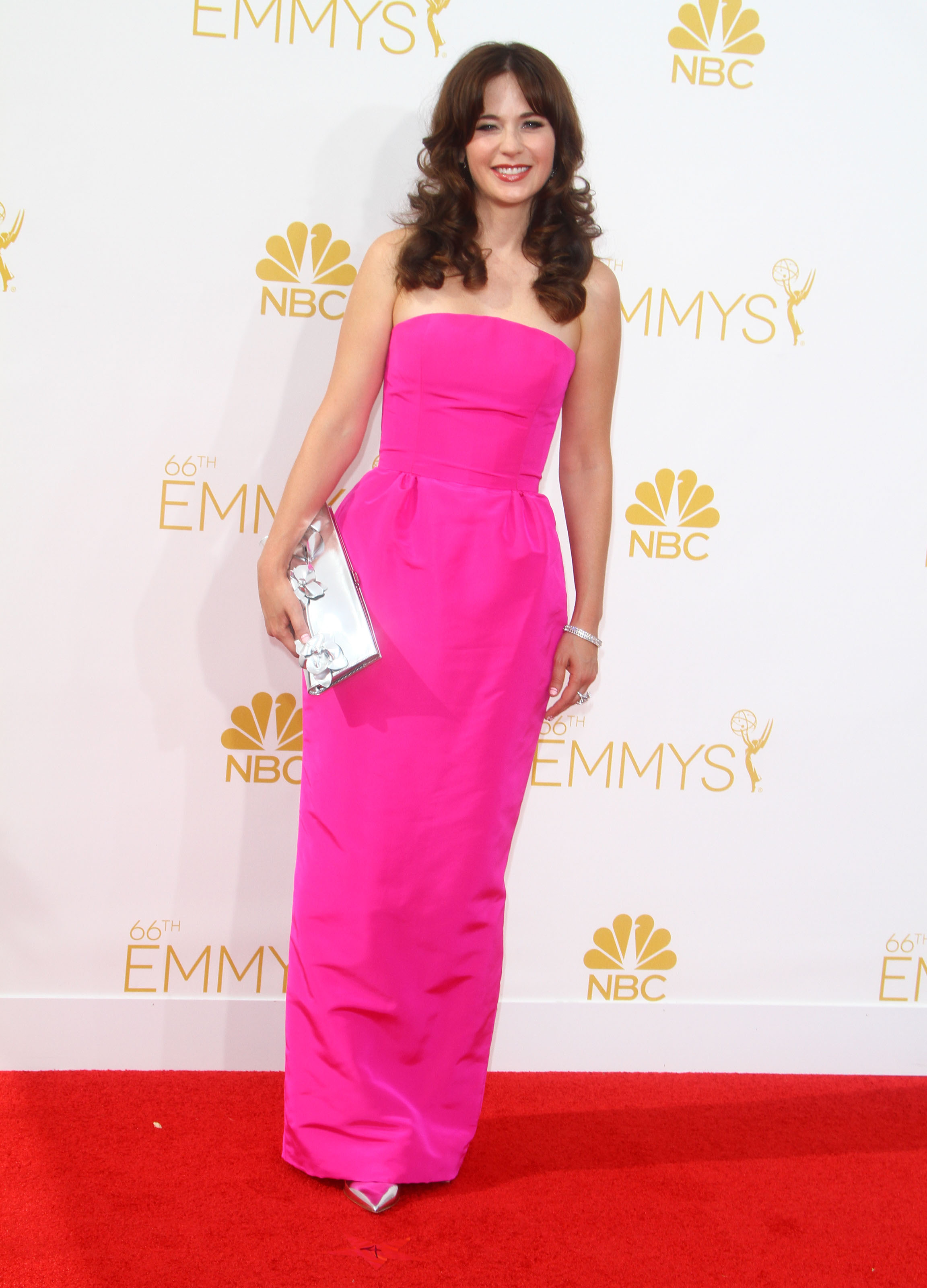 Zooey Deschanel at Emmys 2014