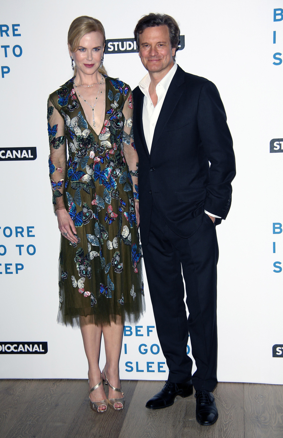 Nicole Kidman and Colin Firth attend the UK Gala screening of 'Before I Go To Sleep' at the Ham Yard Hotel in London, England