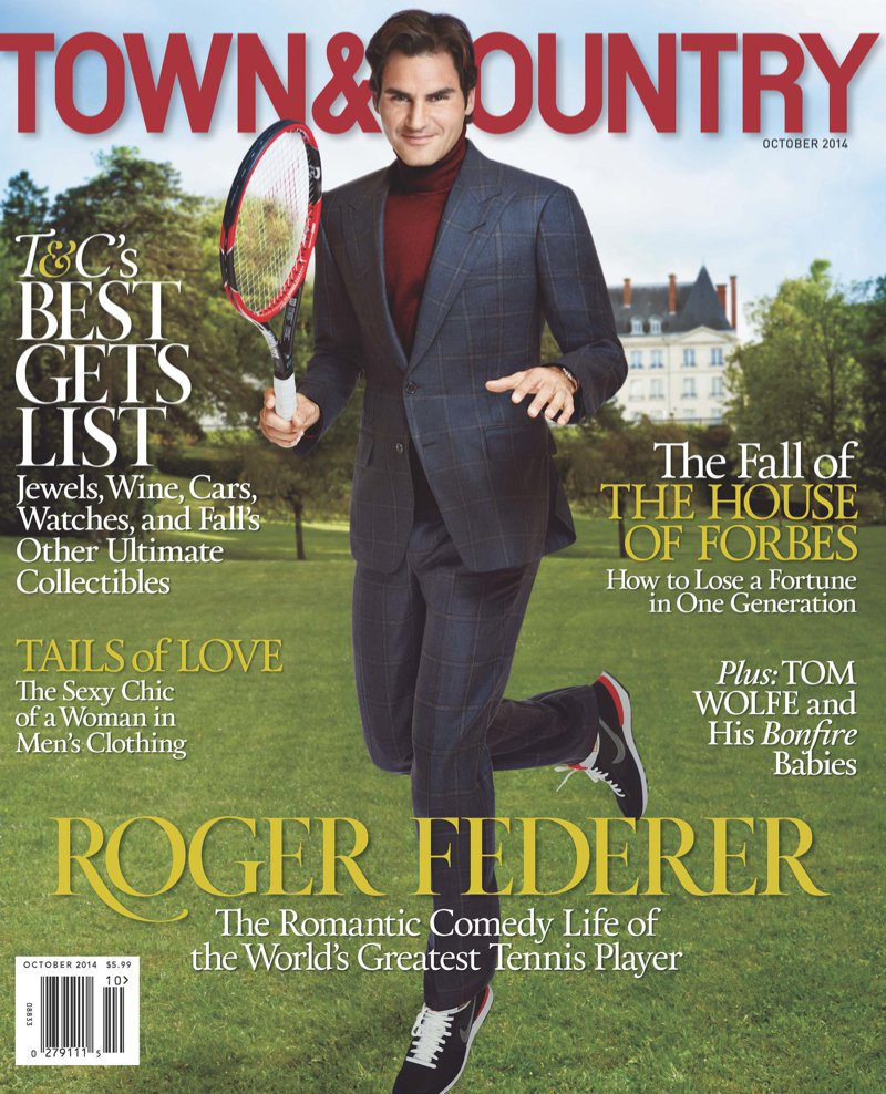"Roger Federer on ""Town & Country,"" October 2014"