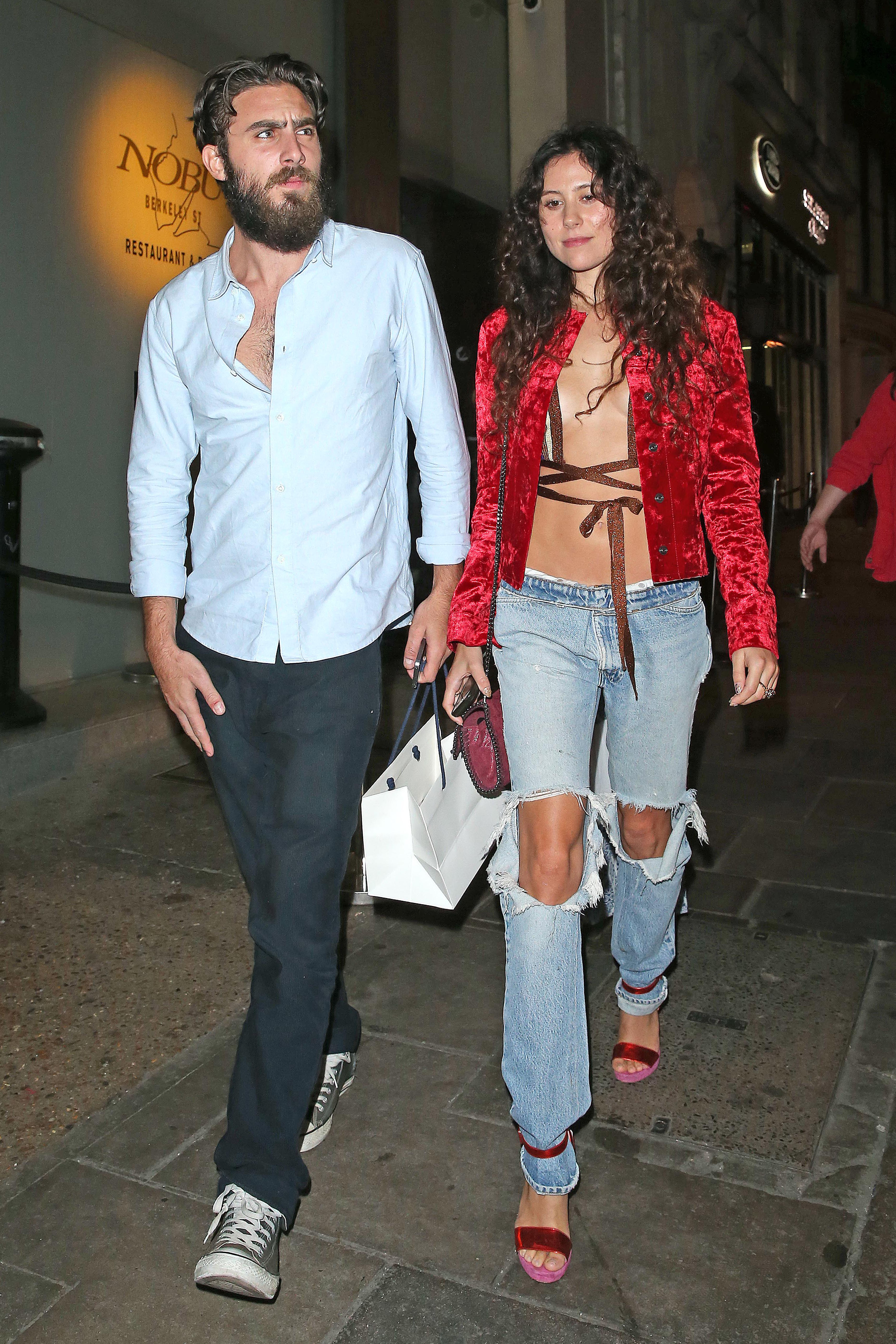 *EXCLUSIVE* Eliza Doolittle wears a revealing outfit with a new mystery man **USA ONLY**