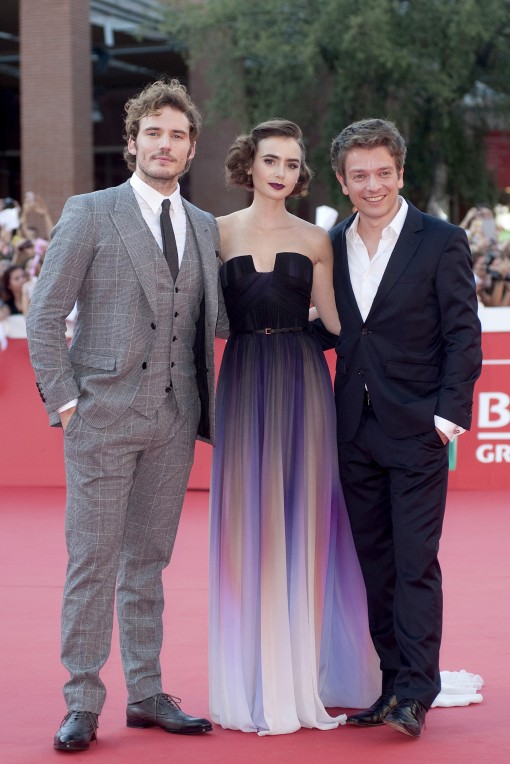 Well Played, Lily Collins in Elie Saab Sam Claflin, Lily ...