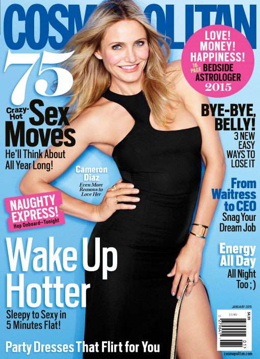 Well Played Cover: Cameron Diaz on Cosmo, January 2015