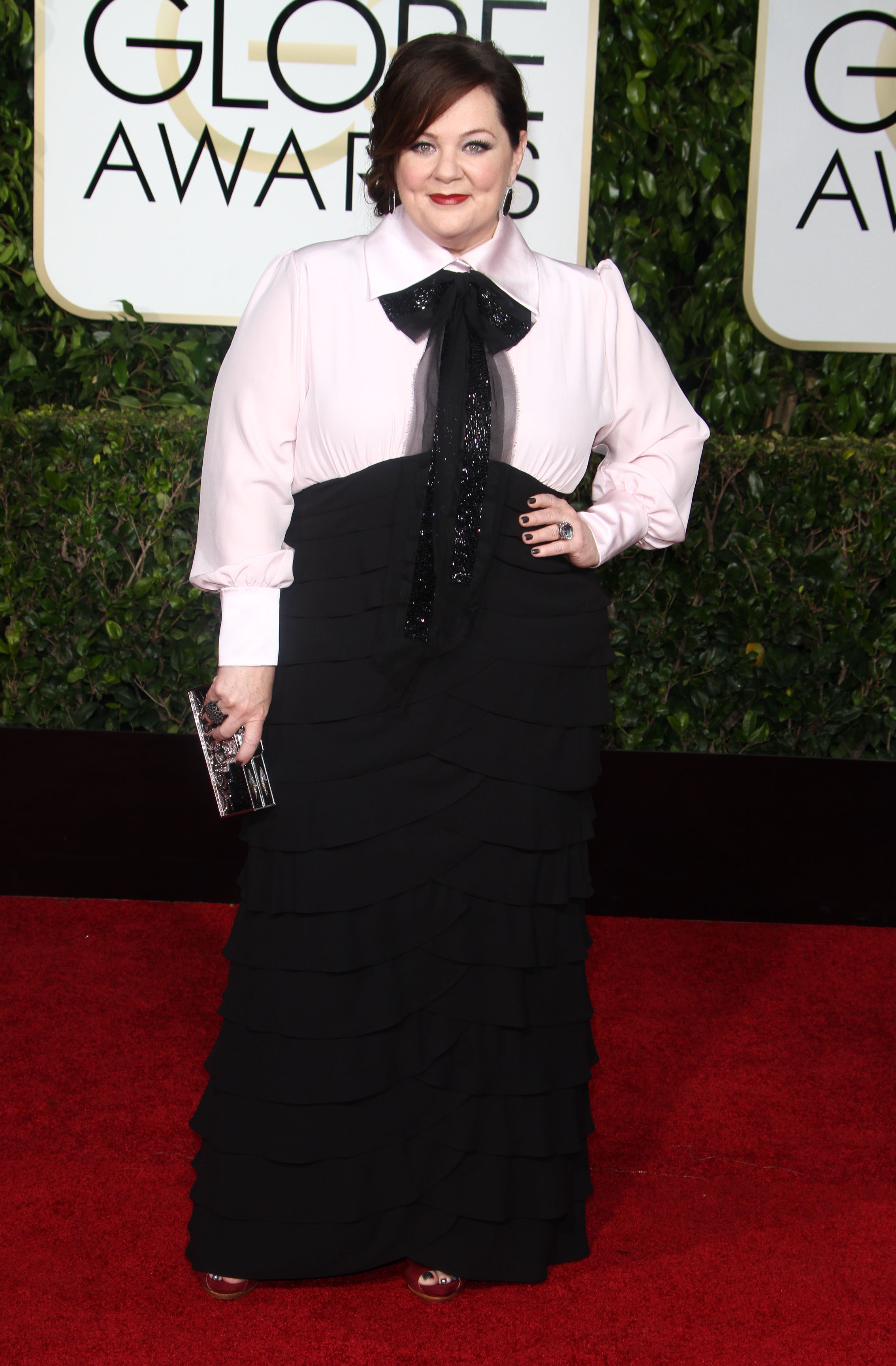 Golden Globes Fug Carpet: Melissa McCarthy in Random Stuff From Her Closet, Seriously