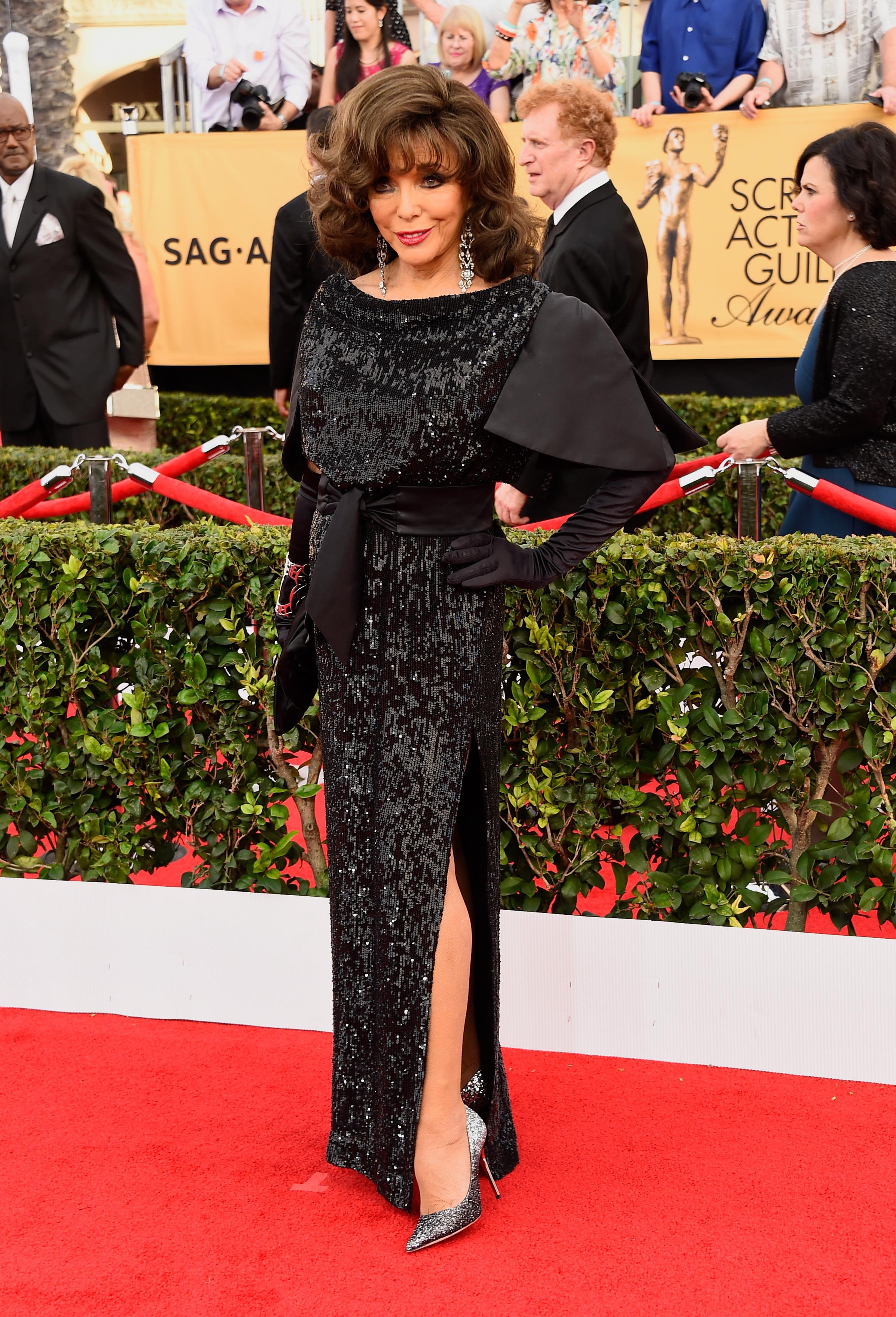 SAG Awards Alexisly Played: Joan Collins - Go Fug Yourself