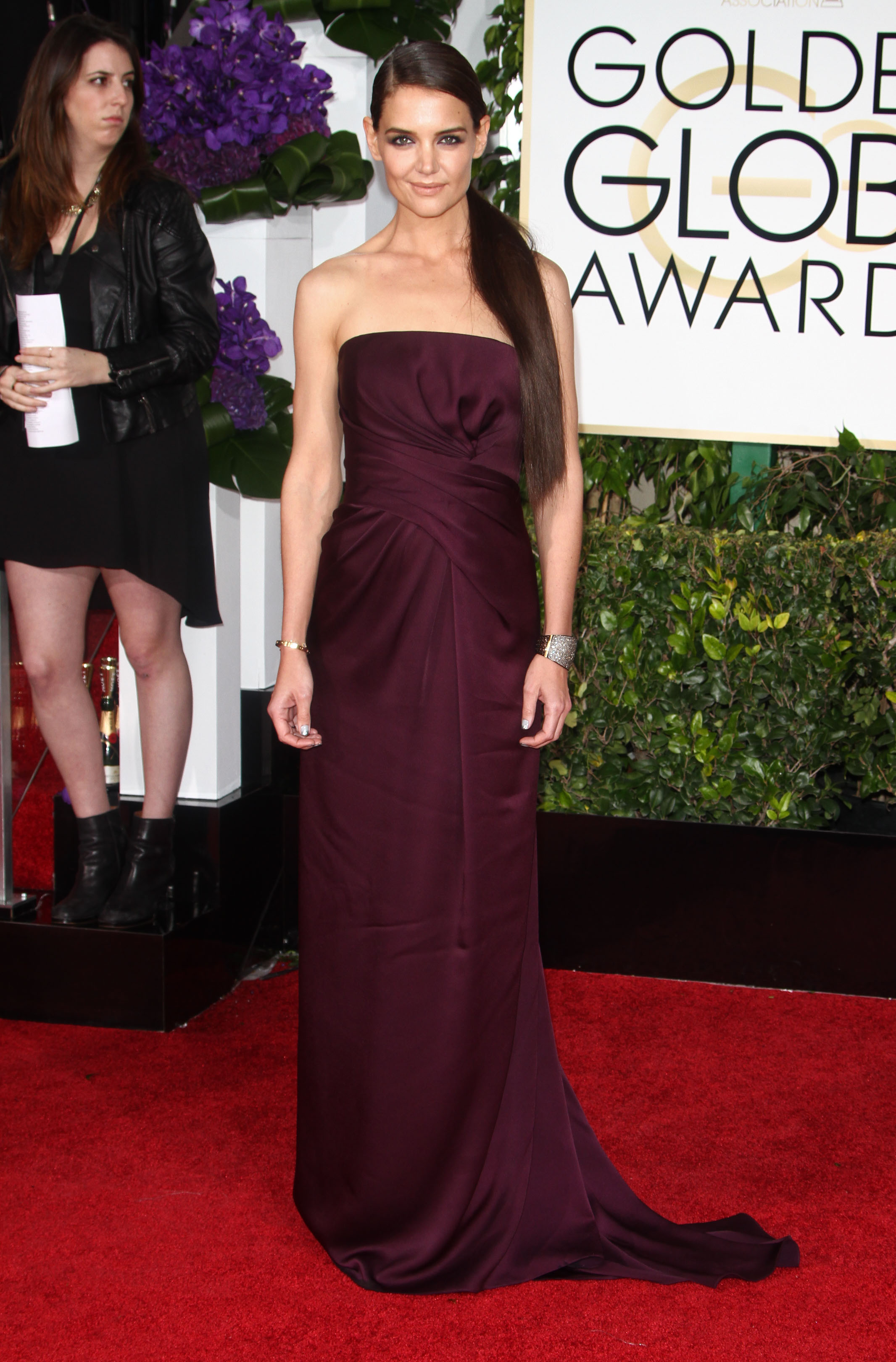 Golden Globes Well Played: Katie Holmes in Marchesa