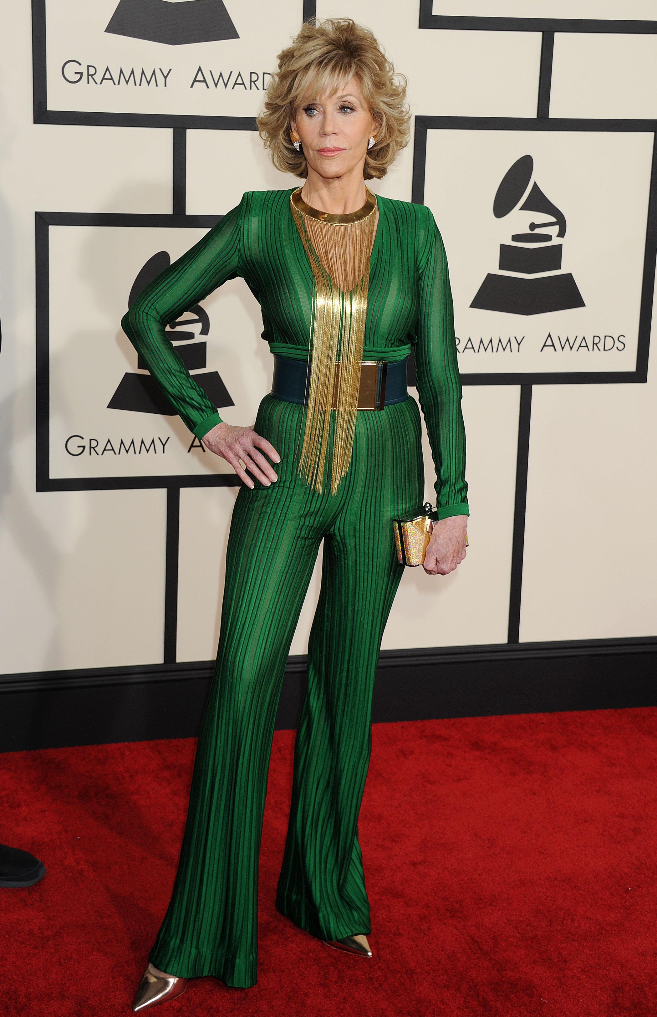 Grammys Well Played: Jane Fonda in Balmain