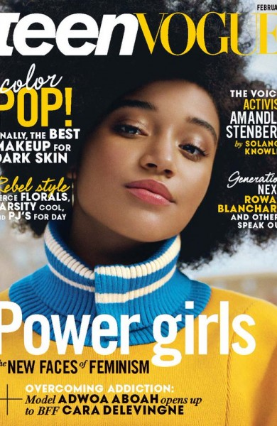 Amandla Stenberg on Teen Vogue, February 2016
