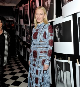 Blue Fugmine: Cate Blanchett in Erdem at the W Magazine Party