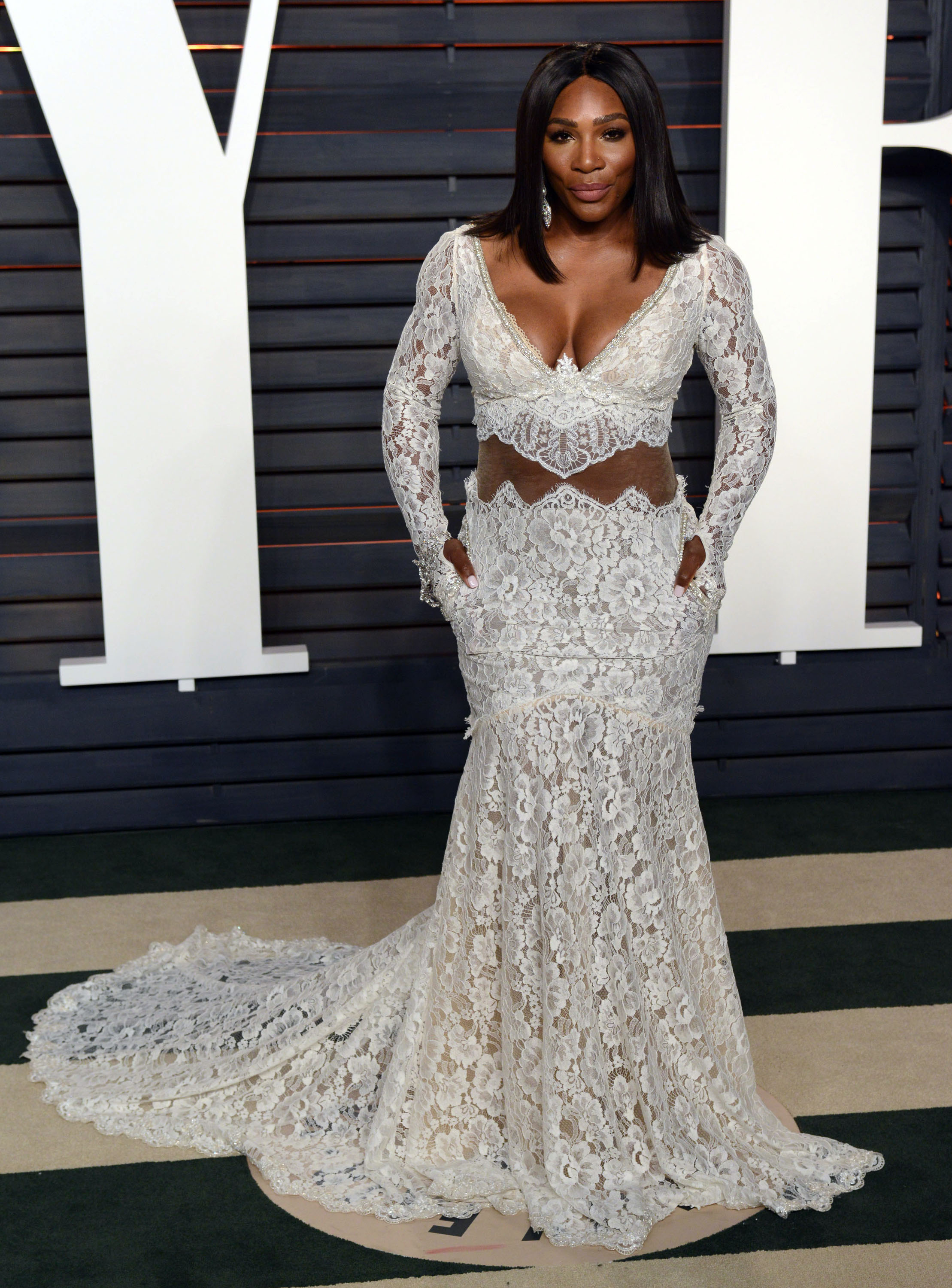 Oscars Fug Carpet Serena Williams In Galia Lahav
