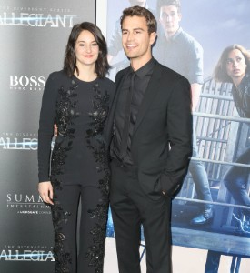 Fug or Fab: Shailene Woodley (with bonus Theo James) in Elie Saab and Valentino
