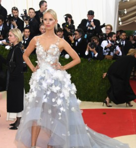 Met Gala Technologically Played: Karolina Kurkova in Marchesa