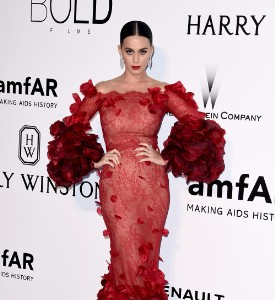 Cannes Kookily Played: Katy Perry in Marchesa at the amfAR Gala