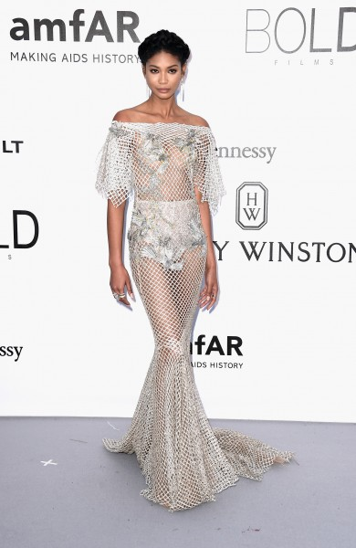 Chanel Iman in Marchesa
