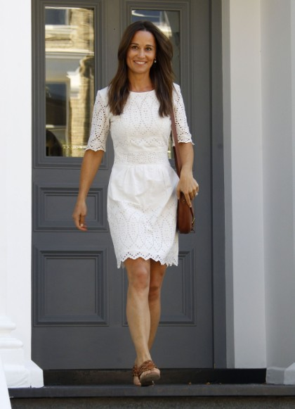 Newly Engaged Pippa Middleton Steps Out In London