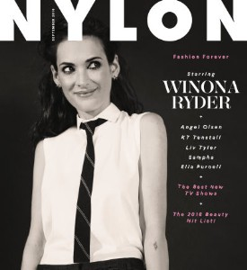 Well Played Cover: Winona Ryder on Nylon, September 2016