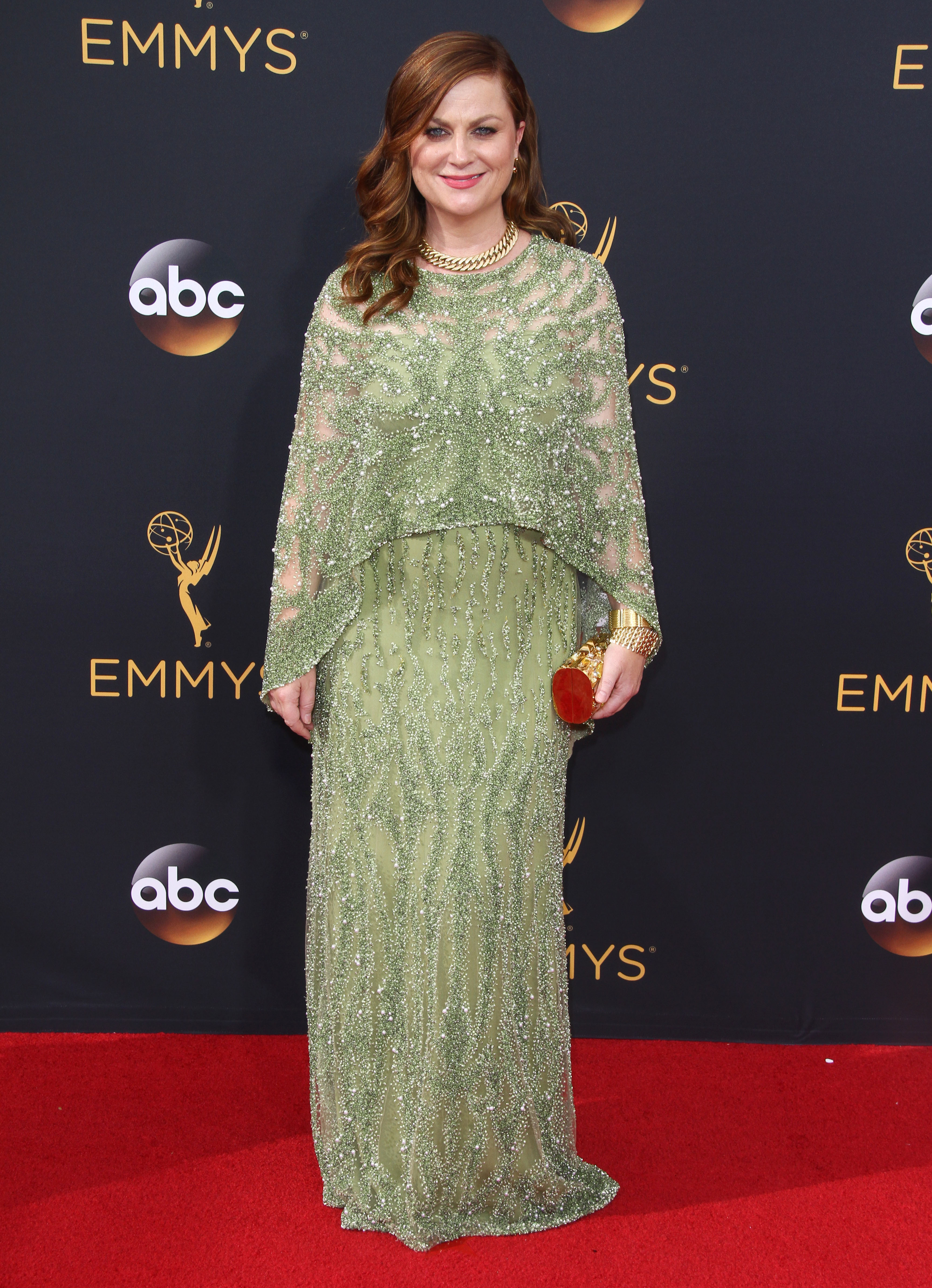 Emmys Fug Carpet: Amy Poehler in Pamella Roland