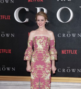 Unfug It Up: Claire Foy at the premiere of The Crown