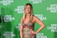 Jennifer Aniston Rejects Her Usual Look at the Office Christmas Party Premiere