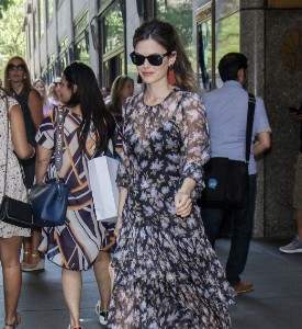 Rachel Bilson leaves following a appearance at NBC's Today Show