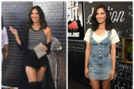 Olivia Munn Promotes Beef Jerky (?) In Two Crazy Outfits