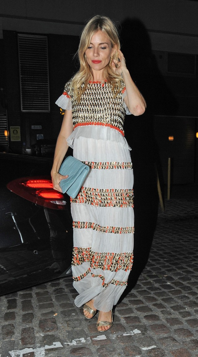 Celebrities at the Chiltern Firehouse in London