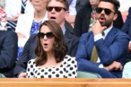 Kate Hits Wimbledon in Polka Dots, Open-Toed Shoes, and a New Haircut