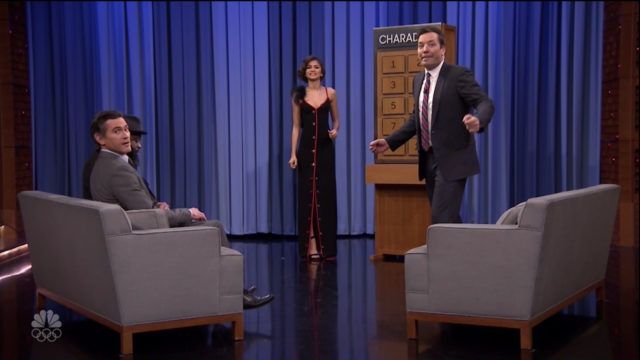 Zendaya and Billy Crudup during an appearance on NBC's 'The Tonight Show Starring Jimmy Fallon.'