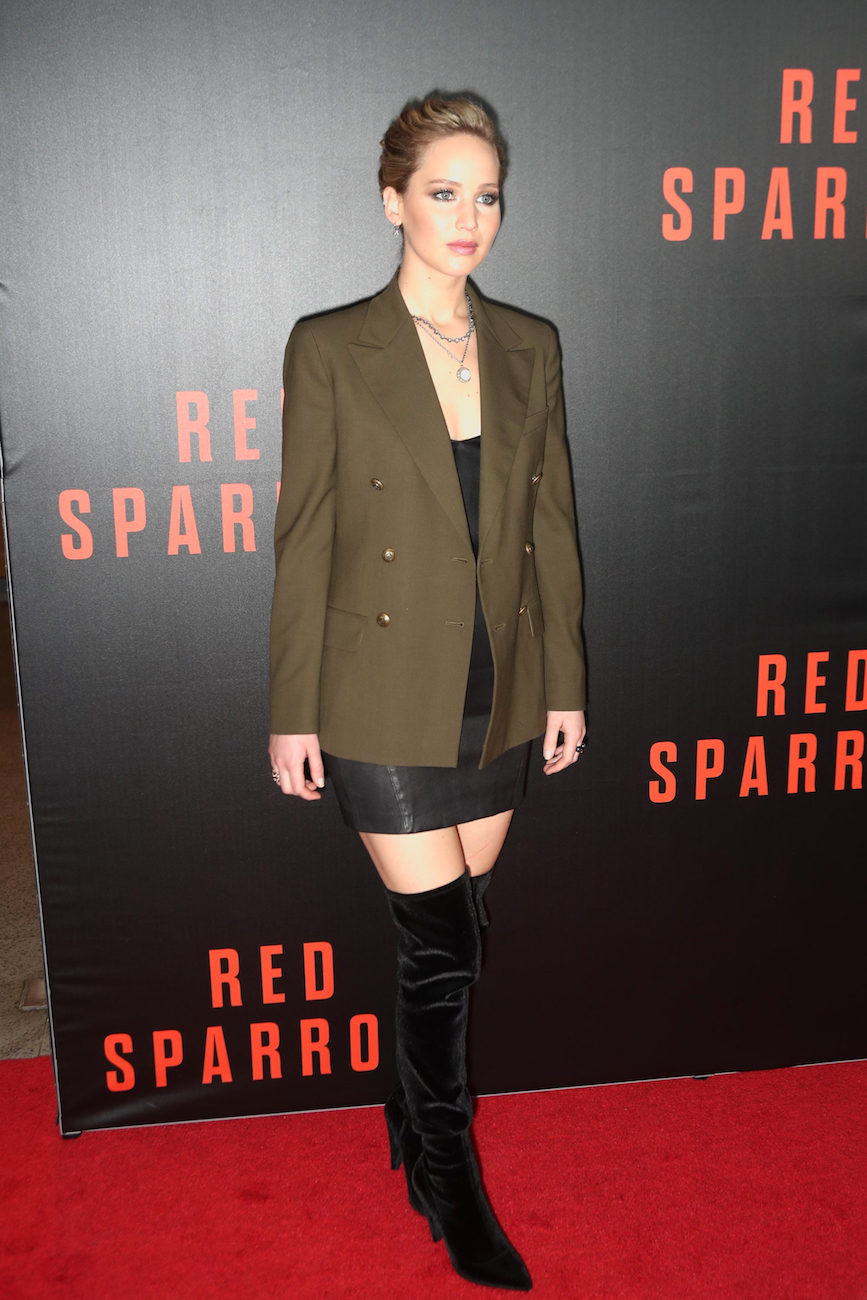 Jennifer Lawrence Resurfaces For Red Sparrow Go Fug Yourself