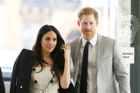 Meghan Markle Gets VERY Stripey. (Harry Is Also Present)