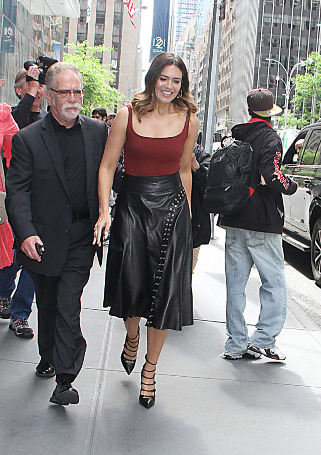 Mandy Moore at the Howard Stern Show
