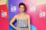 Maggie Gyllenhaal Opts for a Snazzy Pattern
