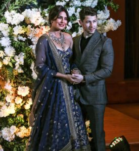 Priyanka Chopra and Nick Jonas reception in Mumbai, India - 19 Dec 2018